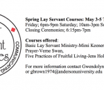 Lay Servant Ministry Courses Spring 2019